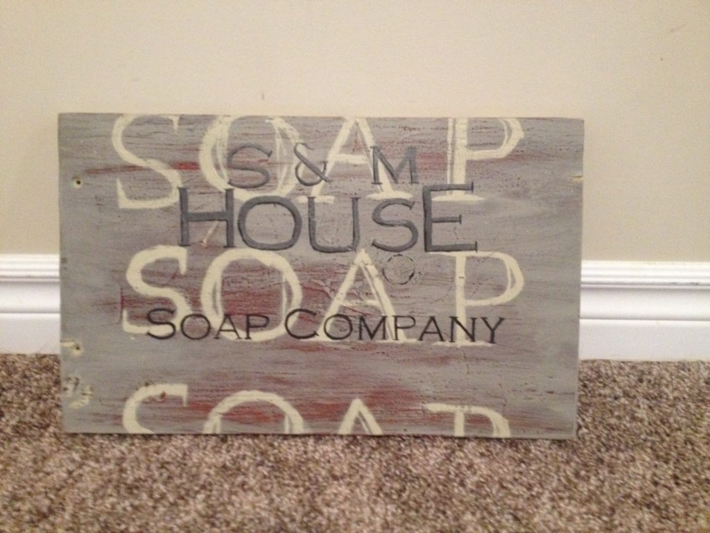 Soap sign - handpainted wooden sign