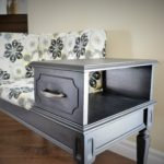 Telephone table - painted and reupholstered