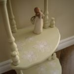 Painted tiered table