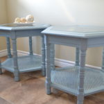 Milk painted end tables