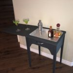 Sewing table turned serving station - painted furniture