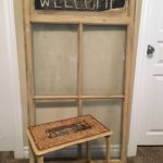 Reclaimed stool and window